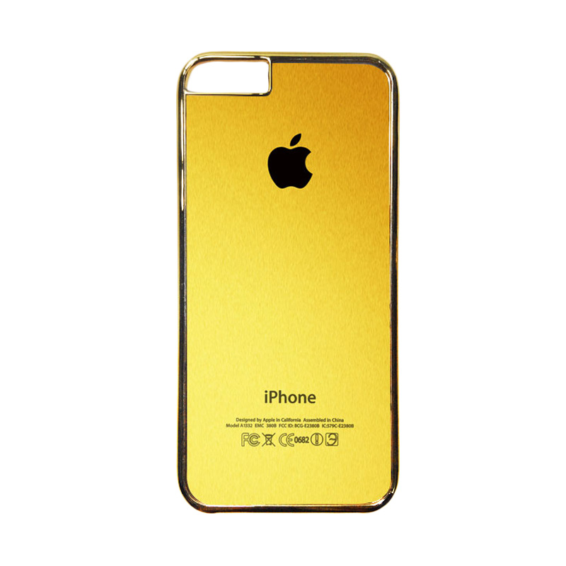 Heavencase Motif Apple Gold 02 Casing for iPhone 6 or iPhone 6s - Gold