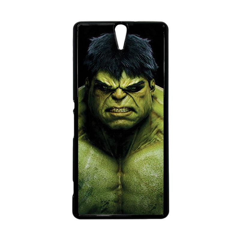 HEAVENCASE Hulk 01 Hitam Hardcase Casing for Sony Xperia C5 Ultra