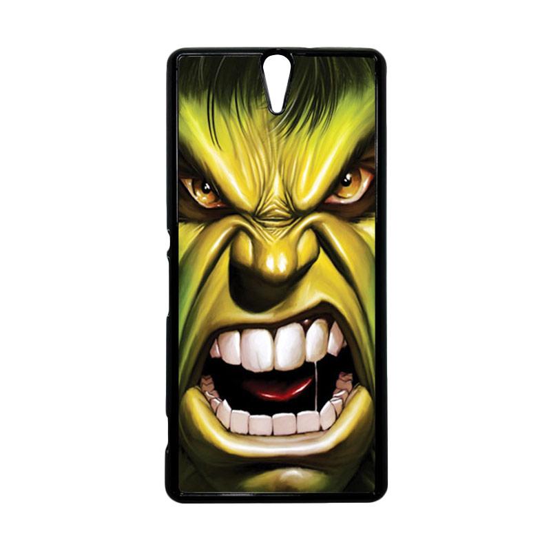 HEAVENCASE Hulk 03 Hitam Hardcase Casing for Sony Xperia C5 Ultra