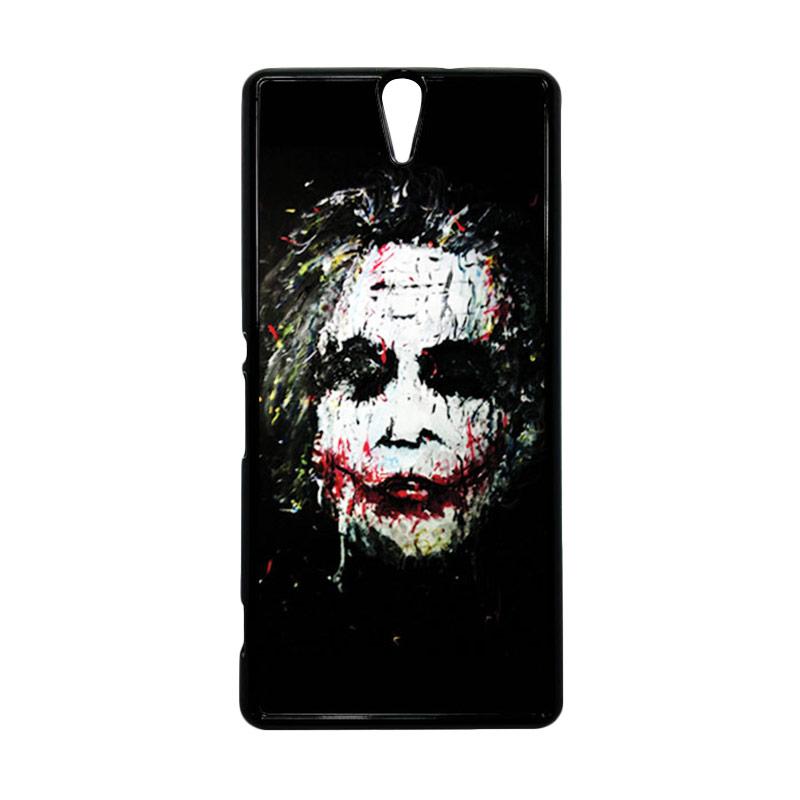 HEAVENCASE Joker 02 Hitam Hardcase Casing for Sony Xperia C5 Ultra