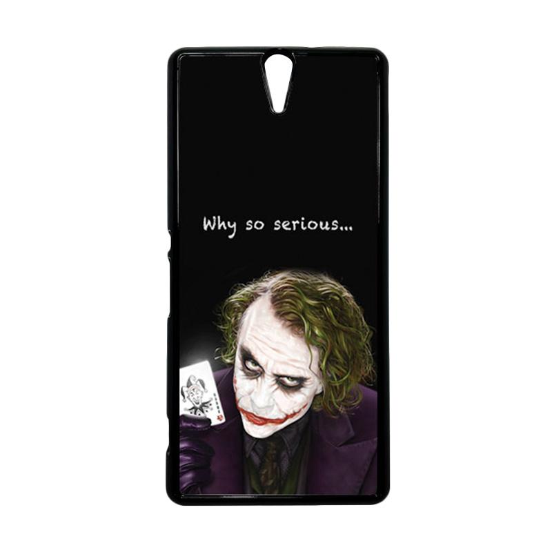 HEAVENCASE Joker 03 Hitam Hardcase Casing for Sony Xperia C5 Ultra