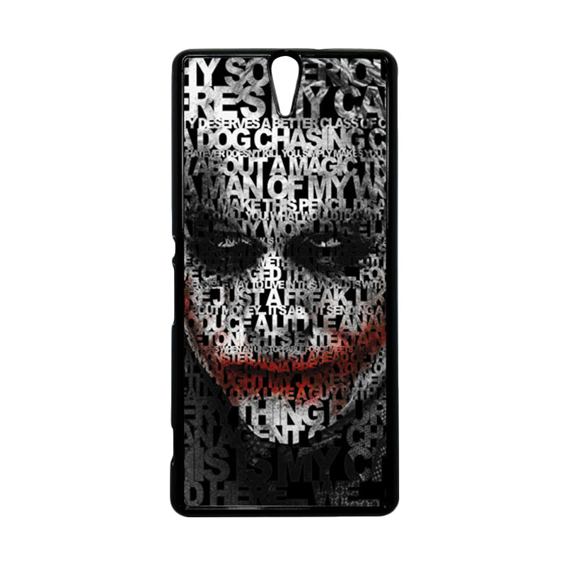 HEAVENCASE Joker 04 Hitam Hardcase Casing for Sony Xperia C5 Ultra