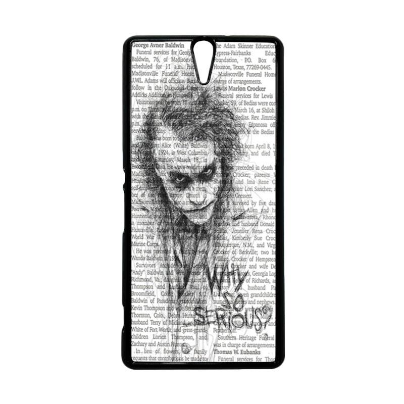 HEAVENCASE Joker 06 Hitam Hardcase Casing for Sony Xperia C5 Ultra