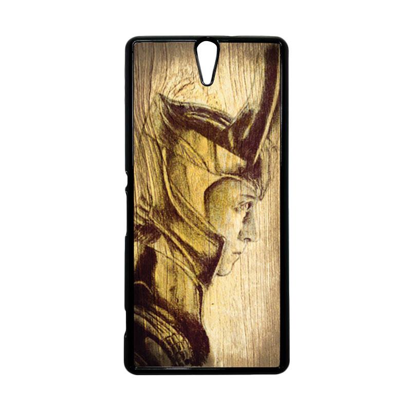 HEAVENCASE Loki 02 Hitam Hardcase Casing for Sony Xperia C5 Ultra