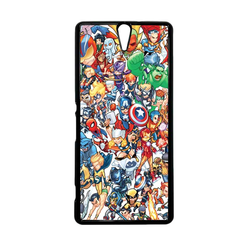 Haevencase Superhero Avengers 02 Black Hardcase Casing For Sony Xperia C5