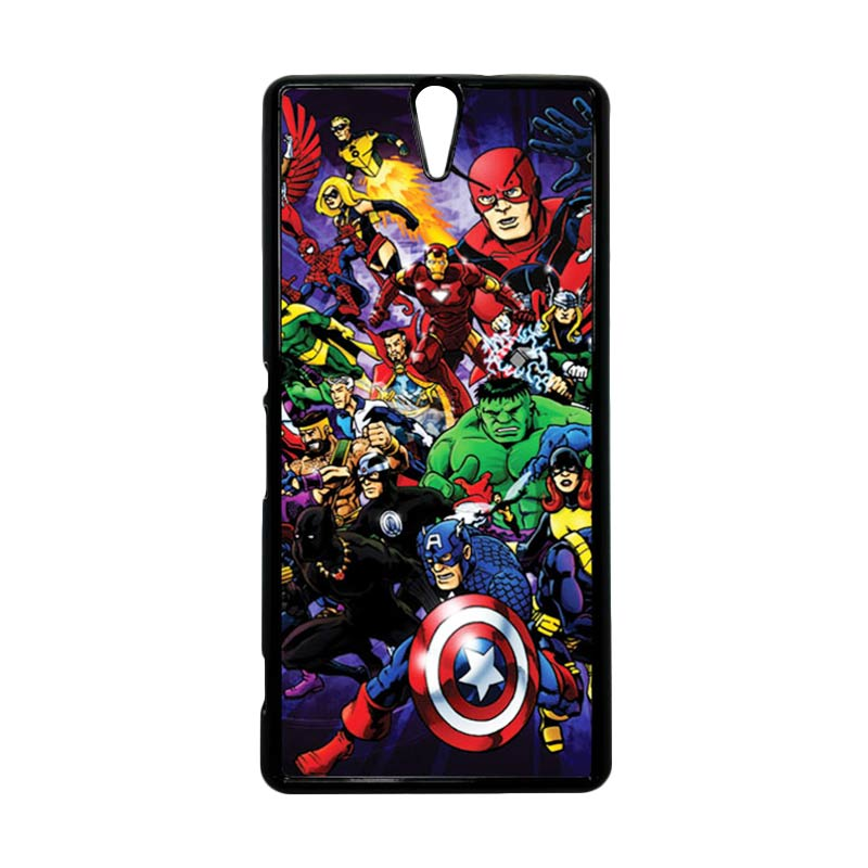 HEAVENCASE Superhero Avengers 03 Hitam Hardcase Casing for Sony Xperia C5 Ultra