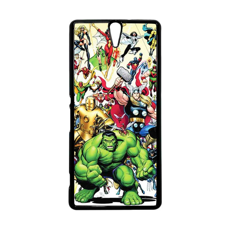 HEAVENCASE Superhero Avengers 04 Hitam Hardcase Casing for Sony Xperia C5 Ultra