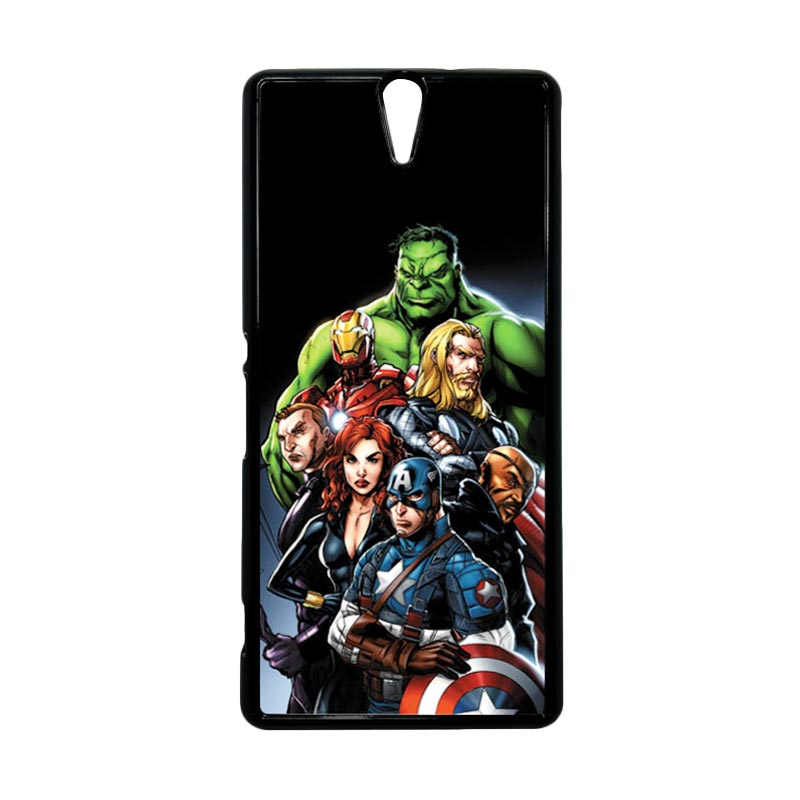 Haevencase Superhero Avengers 05 Black Hardcase Casing For Sony Xperia C5