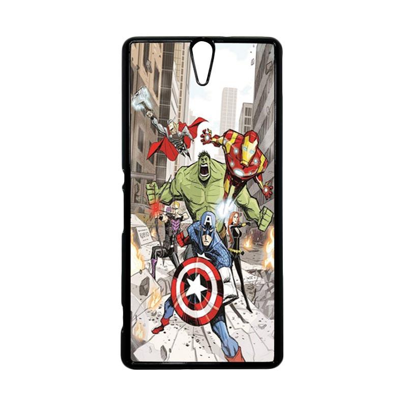 Haevencase Superhero Avengers 08 Black Hardcase Casing For Sony Xperia C5