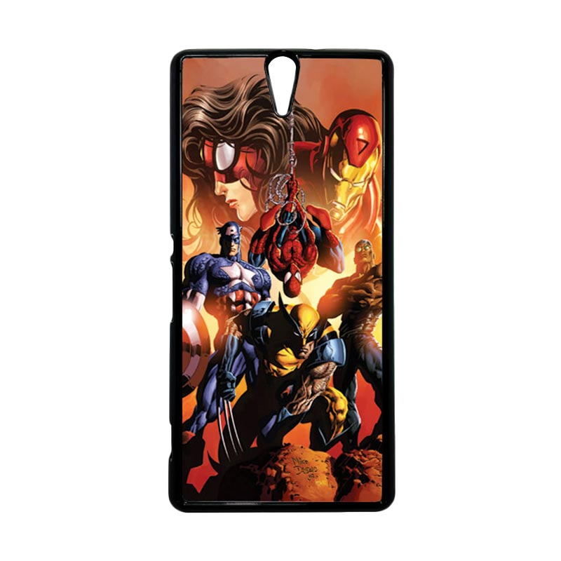Haevencase Superhero Avengers 09 Black Hardcase Casing For Sony Xperia C5