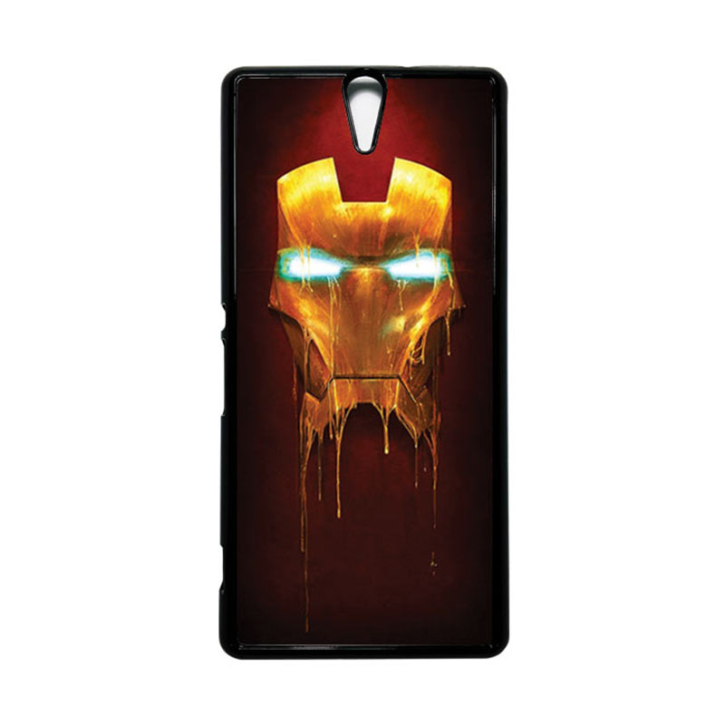 HEAVENCASE Superhero Ironman 01 Hitam Hardcase Casing for Sony Xperia C5 Ultra