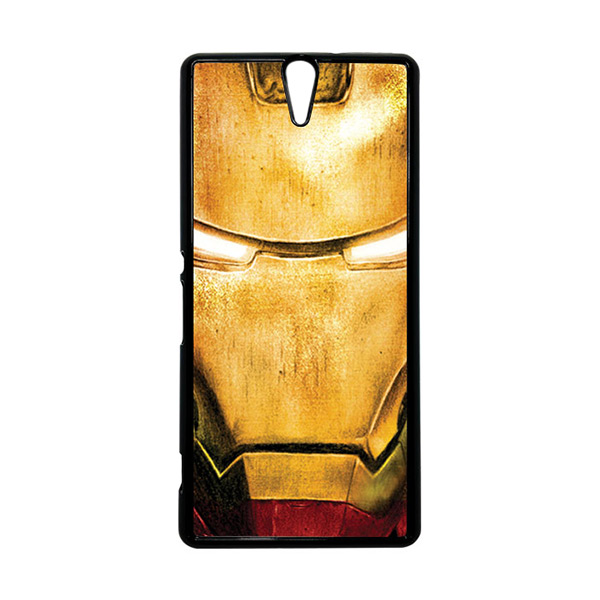 HEAVENCASE Superhero Ironman 02 Hitam Hardcase Casing for Sony Xperia C5 Ultra