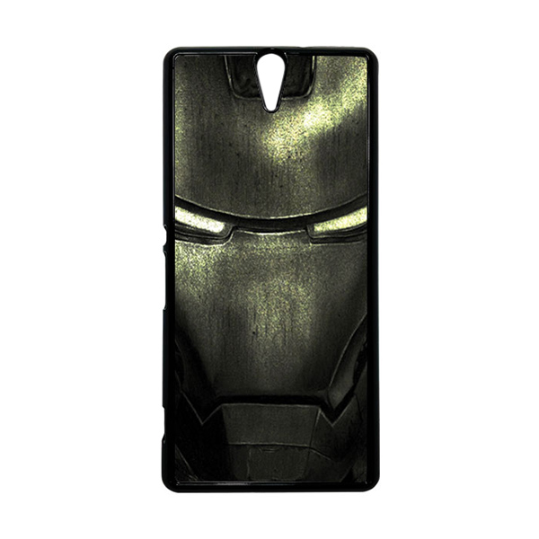 HEAVENCASE Superhero Ironman 03 Hitam Hardcase Casing for Sony Xperia C5 Ultra