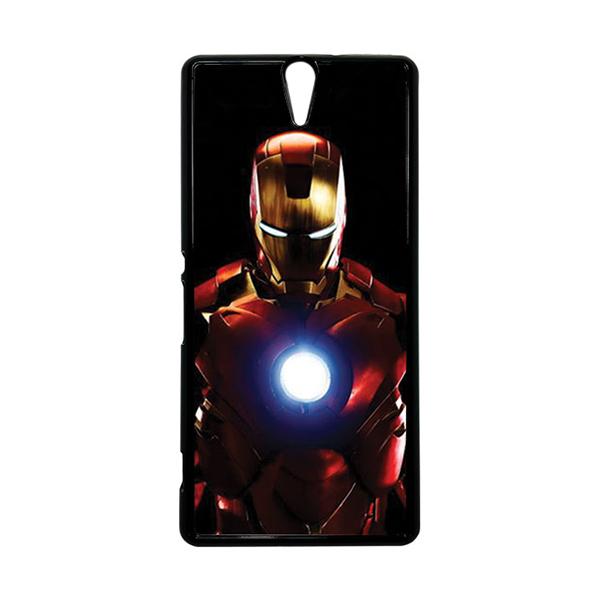 HEAVENCASE Superhero Ironman 05 Hitam Hardcase Casing for Sony Xperia C5 Ultra