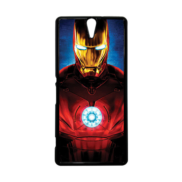 HEAVENCASE Superhero Ironman 06 Hitam Hardcase Casing for Sony Xperia C5 Ultra