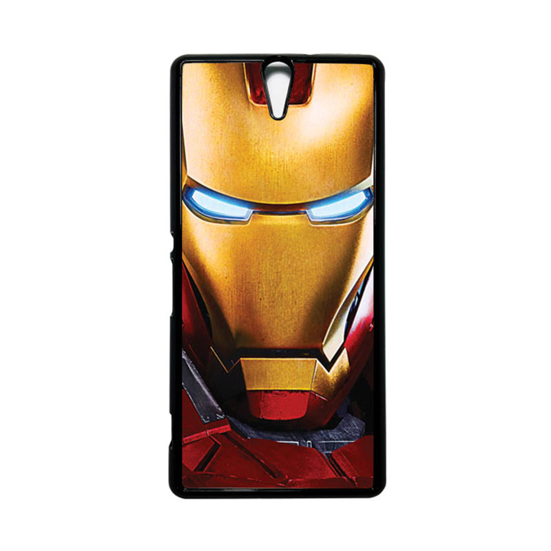 HEAVENCASE Superhero Ironman 07 Hitam Hardcase Casing for Sony Xperia C5 Ultra