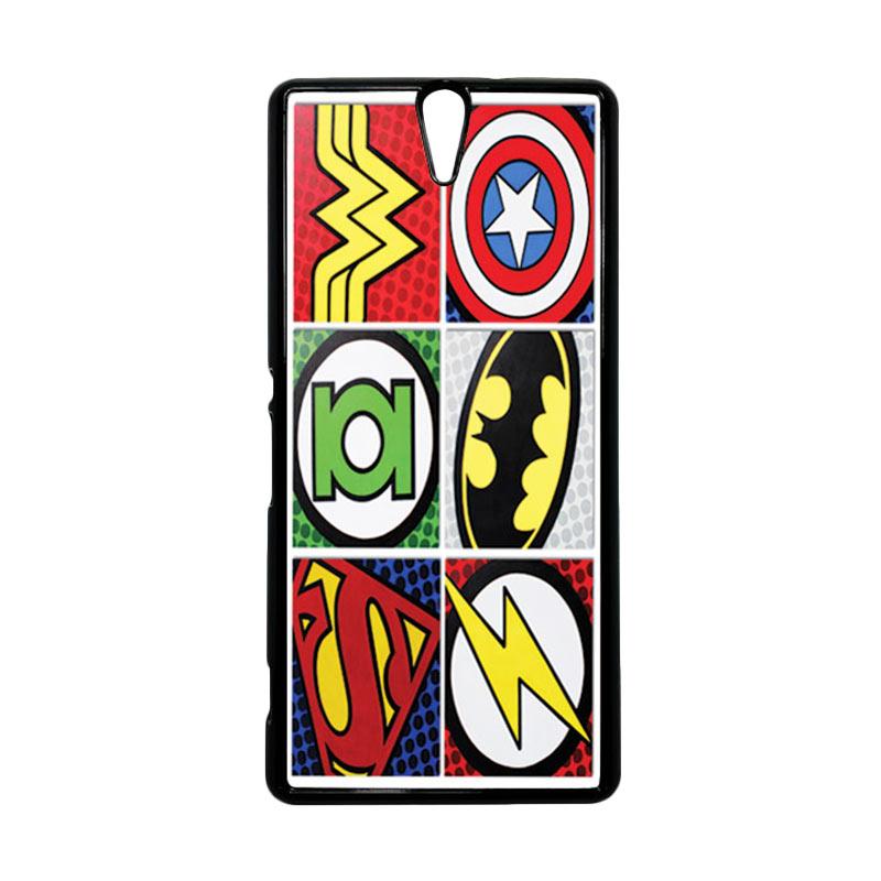 Haevencase Superhero Superhero Logo Black Hardcase Casing For Sony Xperia C5