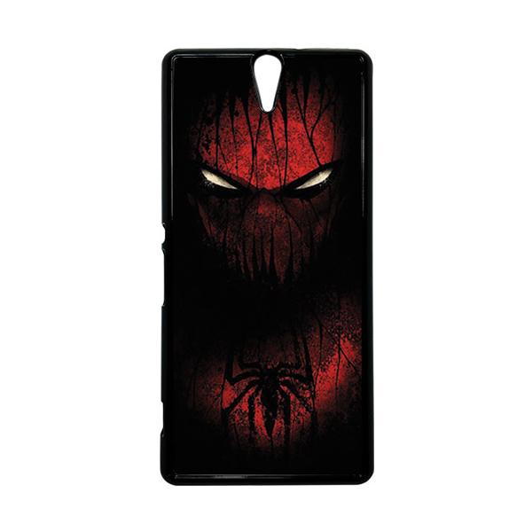HEAVENCASE Superhero Spiderman 02 Hitam Hardcase Casing for Sony Xperia C5 Ultra