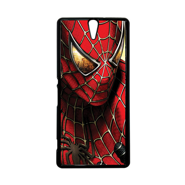 HEAVENCASE Superhero Spiderman 04 Hitam Hardcase Casing for Sony Xperia C5 Ultra