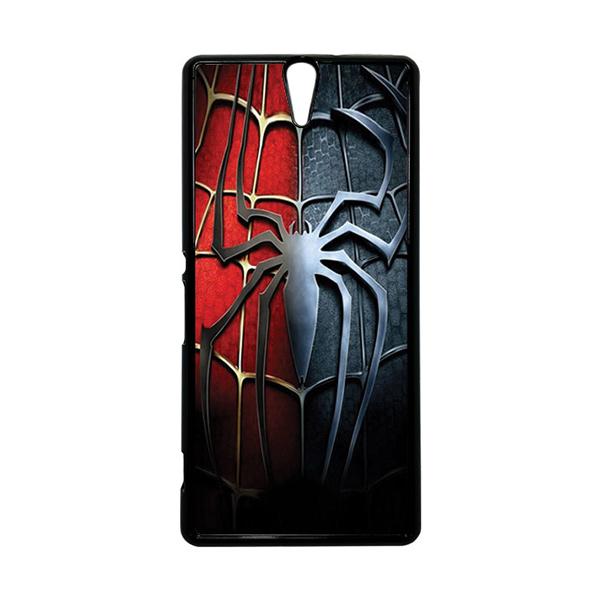 HEAVENCASE Superhero Spiderman 05 Hitam Hardcase Casing for Sony Xperia C5 Ultra