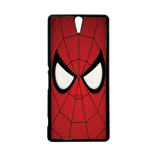 HEAVENCASE Superhero Spiderman 07 Hitam Hardcase Casing for Sony Xperia C5 Ultra