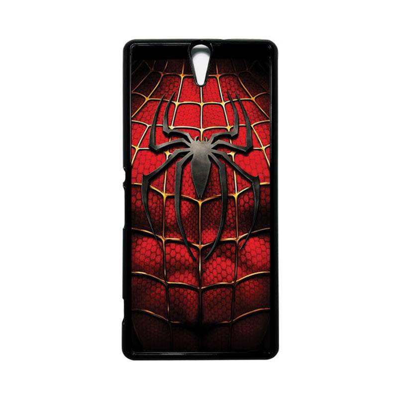 HEAVENCASE Superhero Spiderman 08 Hitam Hardcase Casing for Sony Xperia C5 Ultra