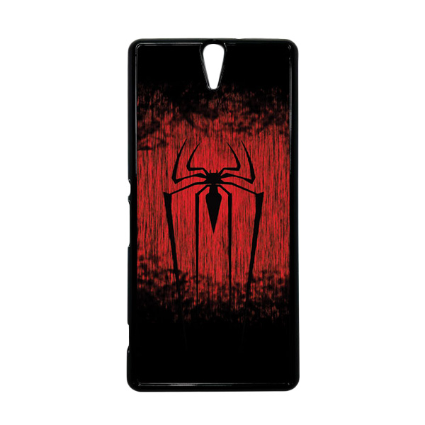 HEAVENCASE Superhero Spiderman 09 Hitam Hardcase Casing for Sony Xperia C5 Ultra