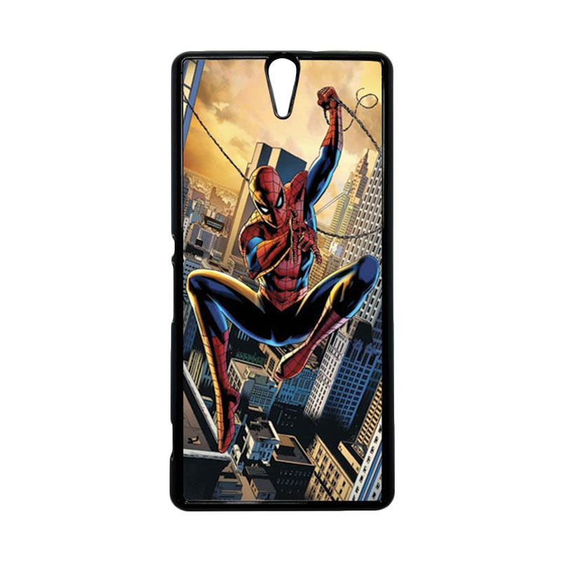 HEAVENCASE Superhero Spiderman 10 Hitam Hardcase Casing for Sony Xperia C5 Ultra