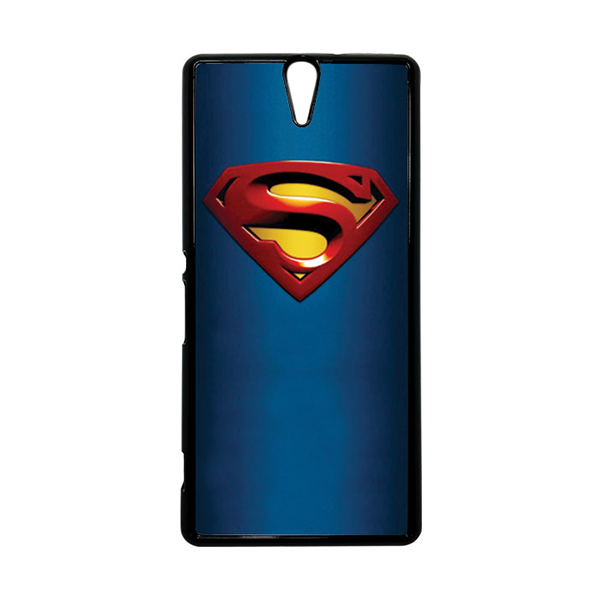 HEAVENCASE Superhero Superman 01 Hitam Hardcase Casing for Sony Xperia C5 Ultra