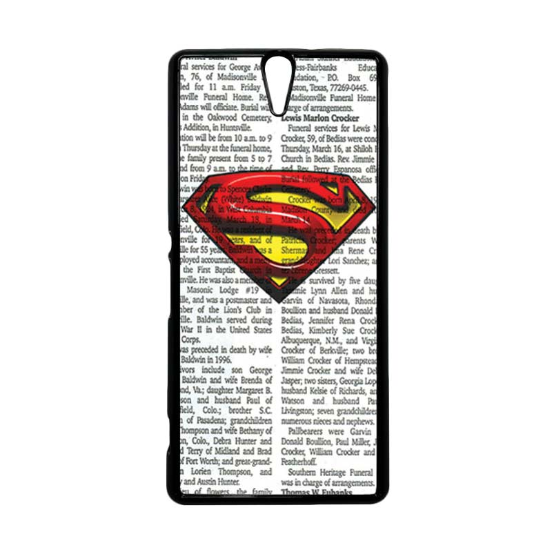 HEAVENCASE Superhero Superman 03 Hitam Hardcase Casing for Sony Xperia C5 Ultra