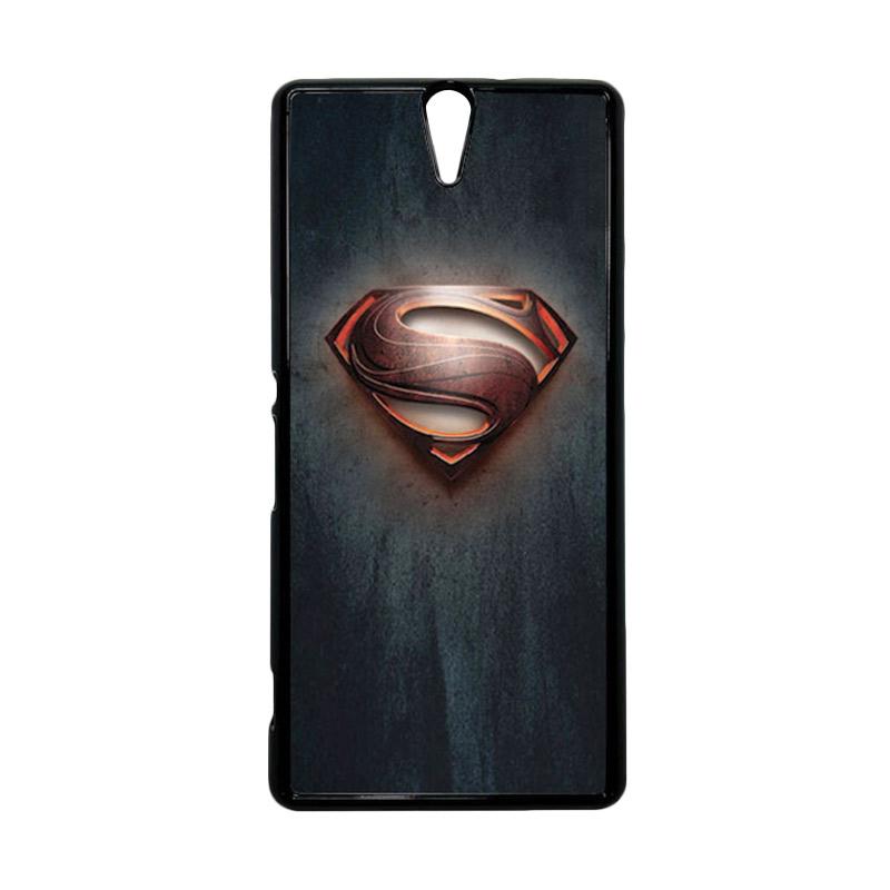 HEAVENCASE Superhero Superman 04 Hitam Hardcase Casing for Sony Xperia C5 Ultra