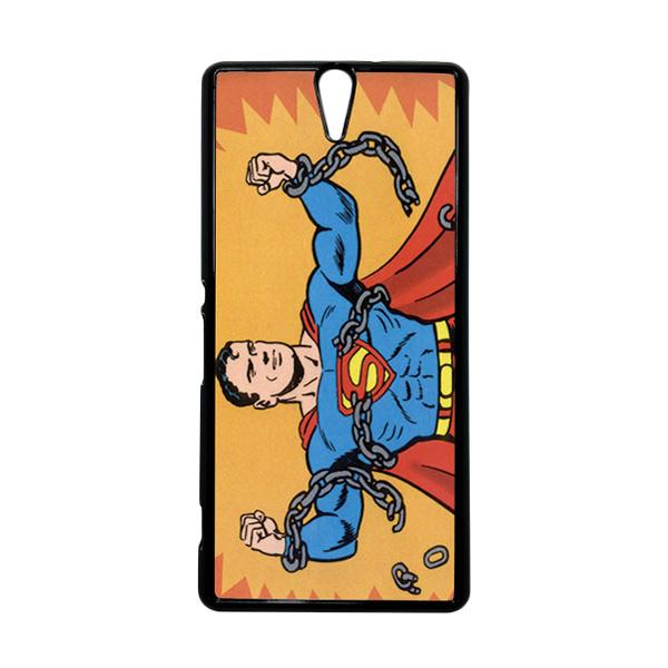 HEAVENCASE Superhero Superman 05 Hitam Hardcase Casing for Sony Xperia C5 Ultra