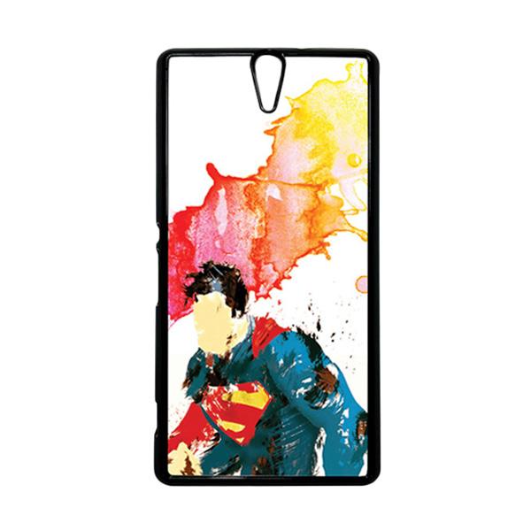 HEAVENCASE Superhero Superman 07 Hitam Hardcase Casing for Sony Xperia C5 Ultra