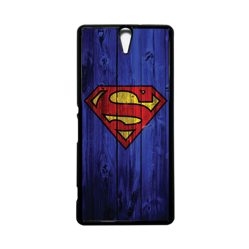 HEAVENCASE Superhero Superman 08 Hitam Hardcase Casing for Sony Xperia C5 Ultra