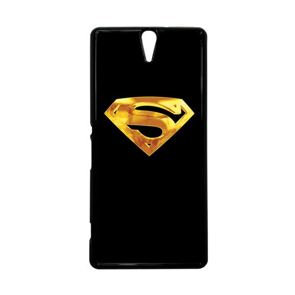HEAVENCASE Superhero Superman 09 Hitam Hardcase Casing for Sony Xperia C5 Ultra