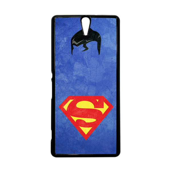 HEAVENCASE Superhero Superman 10 Hitam Hardcase Casing for Sony Xperia C5 Ultra