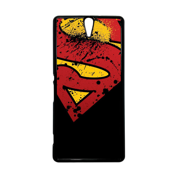 HEAVENCASE Superhero Superman 11 Hitam Hardcase Casing for Sony Xperia C5 Ultra