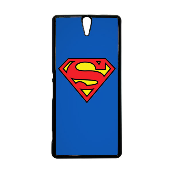 HEAVENCASE Superhero Superman 13 Hitam Hardcase Casing for Sony Xperia C5 Ultra