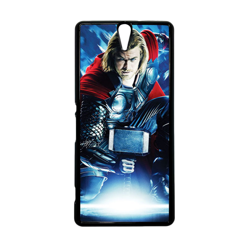 HEAVENCASE Thor 01 Hitam Hardcase Casing for Sony Xperia C5 Ultra