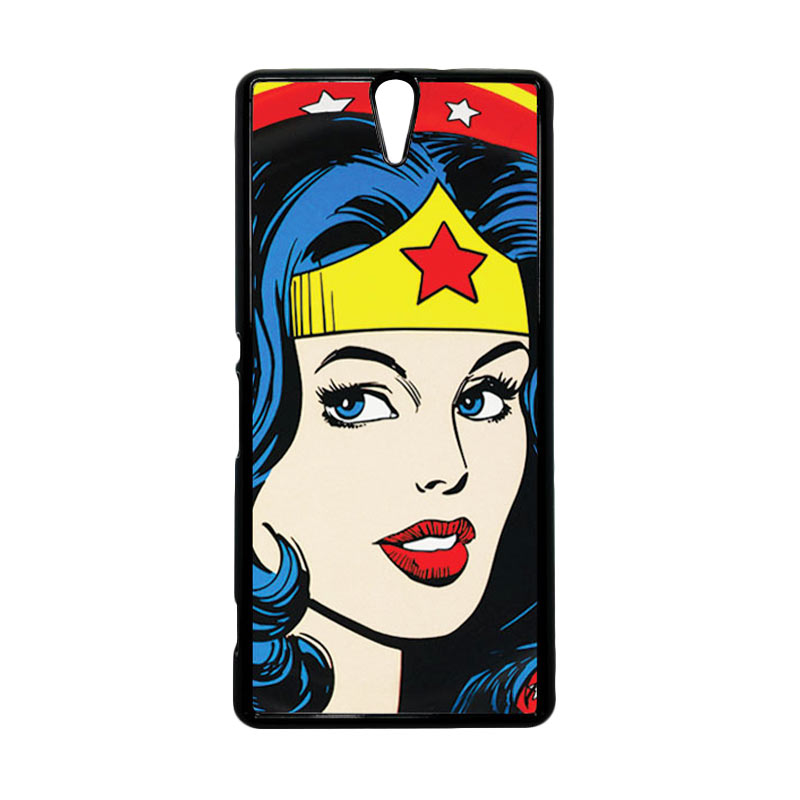 HEAVENCASE Wonder Woman 01 Hitam Hardcase Casing for Sony Xperia C5 Ultra