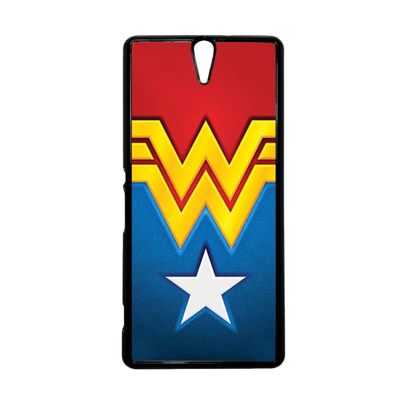 HEAVENCASE Wonder Woman 02 Hitam Hardcase Casing for Sony Xperia C5 Ultra