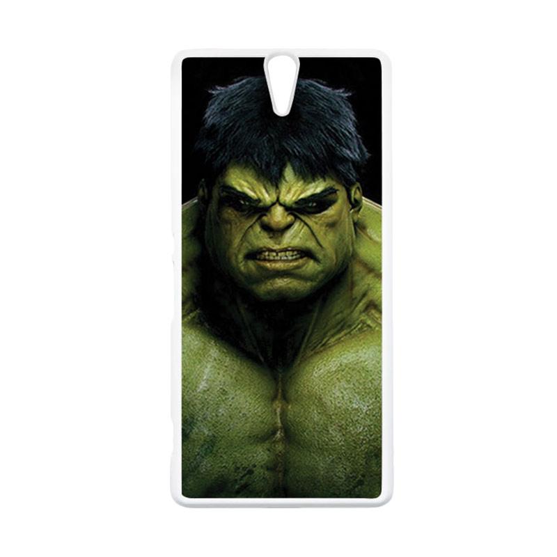 HEAVENCASE Hulk 01 Putih Hardcase Casing for Sony Xperia C5 Ultra