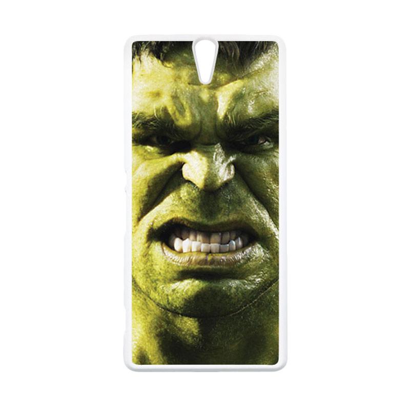 HEAVENCASE Hulk 02 Putih Hardcase Casing for Sony Xperia C5 Ultra