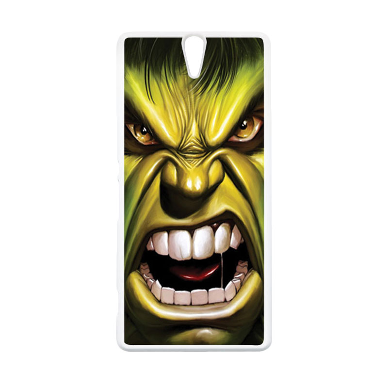 HEAVENCASE Hulk 03 Putih Hardcase Casing for Sony Xperia C5 Ultra
