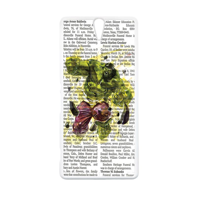 HEAVENCASE Hulk 04 Putih Hardcase Casing for Sony Xperia C5 Ultra
