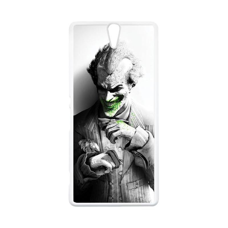 HEAVENCASE Joker 01 Putih Hardcase Casing for Sony Xperia C5 Ultra