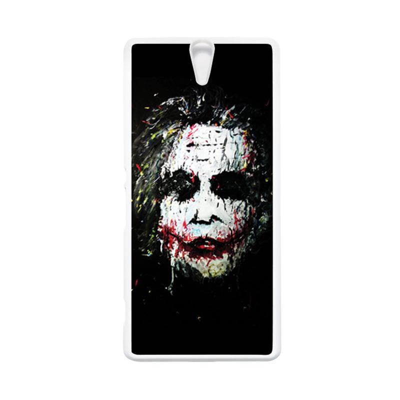 HEAVENCASE Joker 02 Putih Hardcase Casing for Sony Xperia C5 Ultra