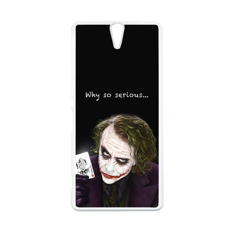 HEAVENCASE Joker 03 Putih Hardcase Casing for Sony Xperia C5 Ultra