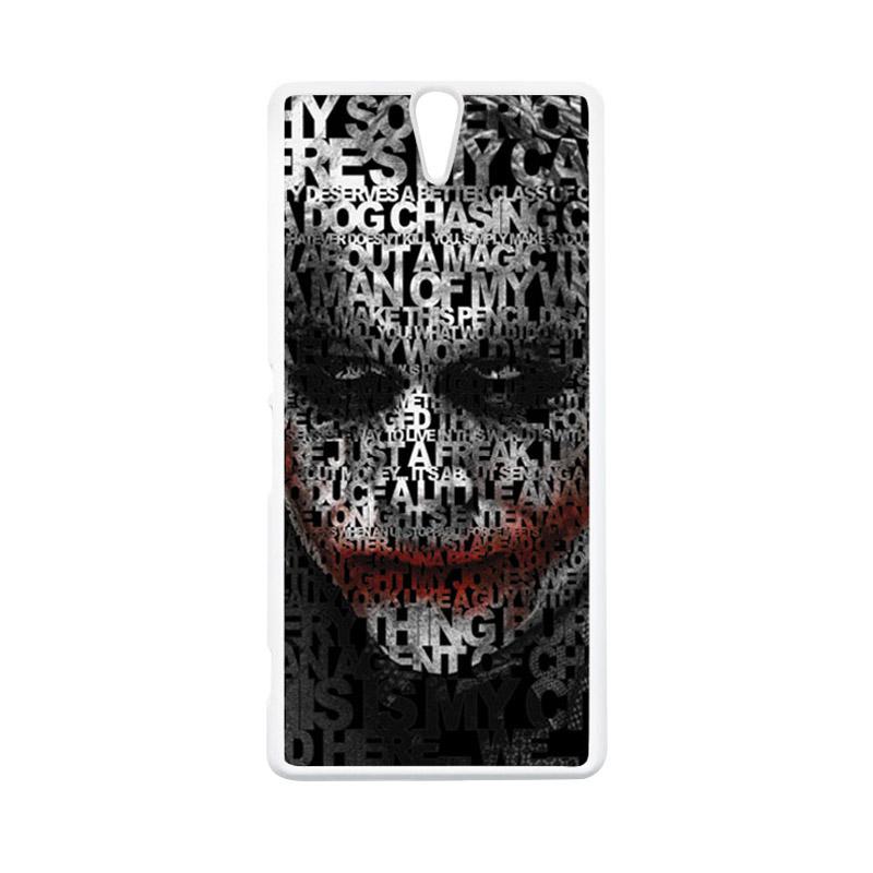 HEAVENCASE Joker 04 Putih Hardcase Casing for Sony Xperia C5 Ultra