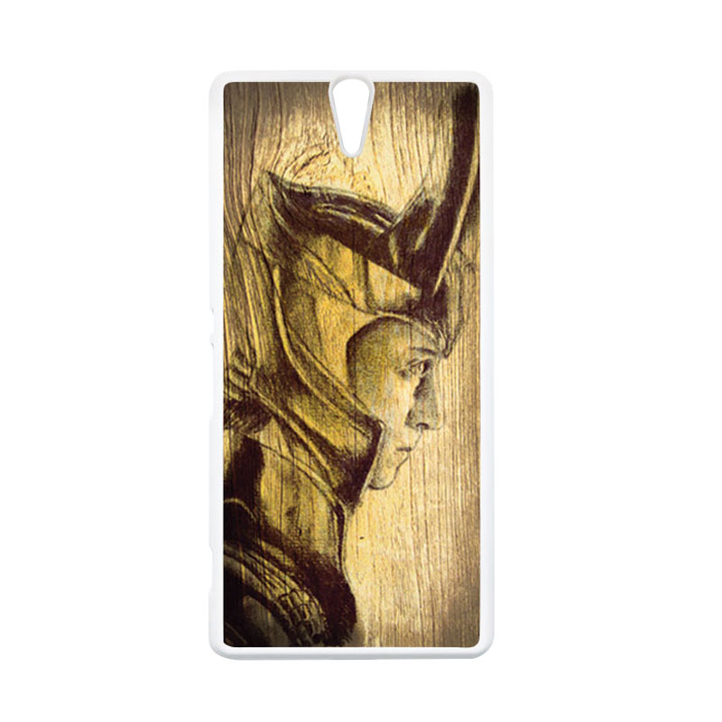 HEAVENCASE Loki 02 Putih Hardcase Casing for Sony Xperia C5 Ultra